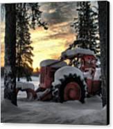 Skidder Sunrise Canvas Print by Heather  Rivet