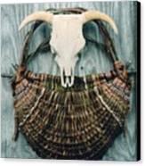 Skull Basket Canvas Print