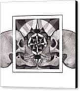 Skull Mandala Series Nr 1 Canvas Print by Deadcharming Art