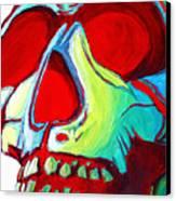 Skull Original Madart Painting Canvas Print
