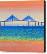 Skyway Morning Canvas Print