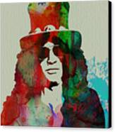 Slash Guns N' Roses Canvas Print by Naxart Studio
