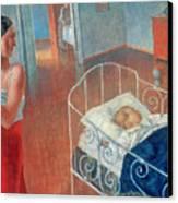 Sleeping Child Canvas Print by Kuzma Sergeevich Petrov Vodkin