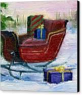 Sleigh Aceo Canvas Print