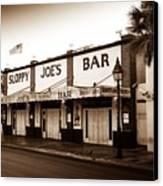 Sloppy Joe's - Key West Florida Canvas Print by Bill Cannon