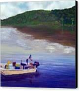 Small Fishing Boat Canvas Print by Tony Rodriguez