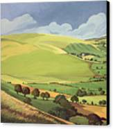 Small Green Valley Canvas Print by Anna Teasdale