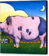 Small Pig Canvas Print by Stacey Neumiller