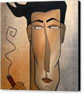 Smoke Break Canvas Print by Tom Fedro - Fidostudio
