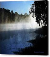 Smoke On The Water Canvas Print by DigiArt Diaries by Vicky B Fuller