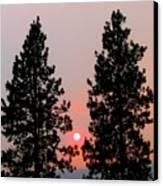 Smokey Okanagan Sunset Canvas Print