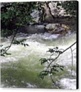 Smokey River Run Canvas Print