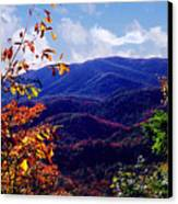Smoky Mountain Autumn View Canvas Print