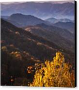Smoky Mountain Hillsides At Autumn Canvas Print