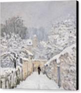 Snow At Louveciennes Canvas Print