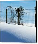 Snow Fence Canvas Print by Joyce Kimble Smith