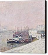 Snow In Rouen Canvas Print