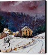 Snow In Sechery Canvas Print