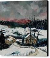 Snow In Sechery Redu Canvas Print