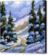 Snow Laden Pines Canvas Print
