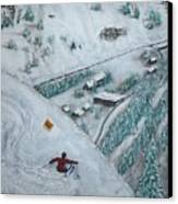 Snowbird Steeps Canvas Print
