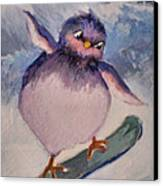 Snowboard Bird Canvas Print by Diane Ursin