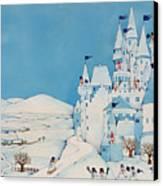 Snowman Castle Canvas Print by Christian Kaempf