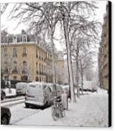 Snowy Day In Paris Canvas Print