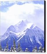 Snowy Mountain Canvas Print by Elena Elisseeva