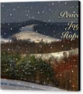 Soft Sifting Christmas Card Canvas Print by Lois Bryan