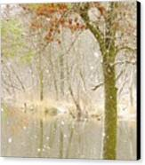 Softly Falls The Snow Canvas Print by Lori Frisch