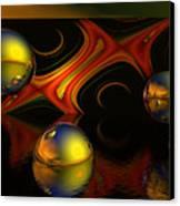 Solar Eclipse Canvas Print by Sandra Bauser Digital Art