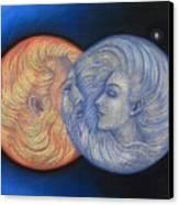 Solar Eclipse Canvas Print by Sue Halstenberg