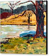 Sold Donnie Myers Pond Canvas Print by Charlie Spear