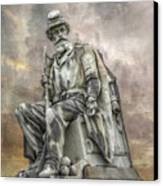 Soldiers National Monument War Statue Gettysburg Cemetery  Canvas Print by Randy Steele