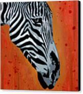 Solitude In Stripes Canvas Print by Tai Taeoalii