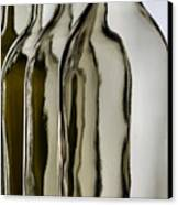 Somber Bottles Canvas Print by Joe Bonita