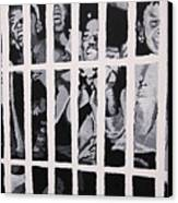 Some Of The 210 Demonstrators Jailed Wave From Their Cell 1964 Canvas Print