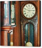 Somebodys Grandfathers Clocks Canvas Print