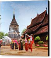 Songkran Canvas Print by Buchachon Petthanya