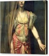 Soudja Sari Canvas Print by Gaston Casimir Saint Pierre