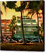 South Beach Ocean Drive Canvas Print by Steven Sparks