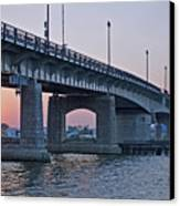 South Capitol Street Bridge Over Anacostia River In Washington Dc Canvas Print by Brendan Reals