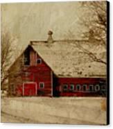 South Dakota Barn Canvas Print by Julie Hamilton