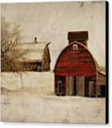 South Dakota Corn Crib Canvas Print by Julie Hamilton