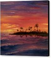 South Pacific Atoll Canvas Print by Jack Skinner