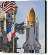 Space Shuttle Atlantis Sitting Canvas Print by Mike Theiss