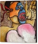 Spank The Monkey Canvas Print