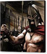 Spartans 300 Canvas Print by James Shepherd