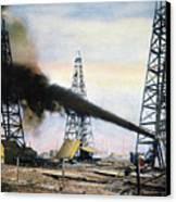 Spindletop Oil Pool, C1906 Canvas Print